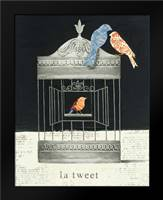 La Tweet: Framed Art Print by Adams, Emily