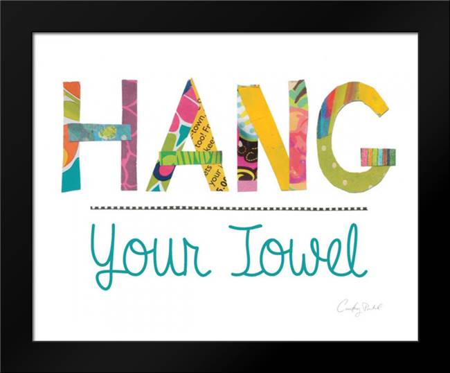 Hang Your Towel: Framed Art Print by Prahl, Courtney