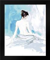 Nude I Blue: Framed Art Print by Tavoletti, Anne