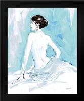 Nude II Blue: Framed Art Print by Tavoletti, Anne