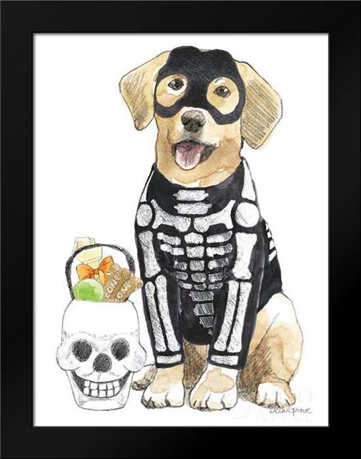 Halloween Pets VII: Framed Art Print by Grove, Beth
