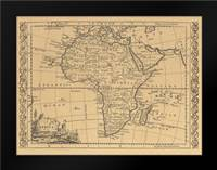 Africa 1800: Framed Art Print by World Map