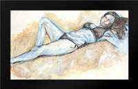 Nude IX: Framed Art Print by Seay, Anne