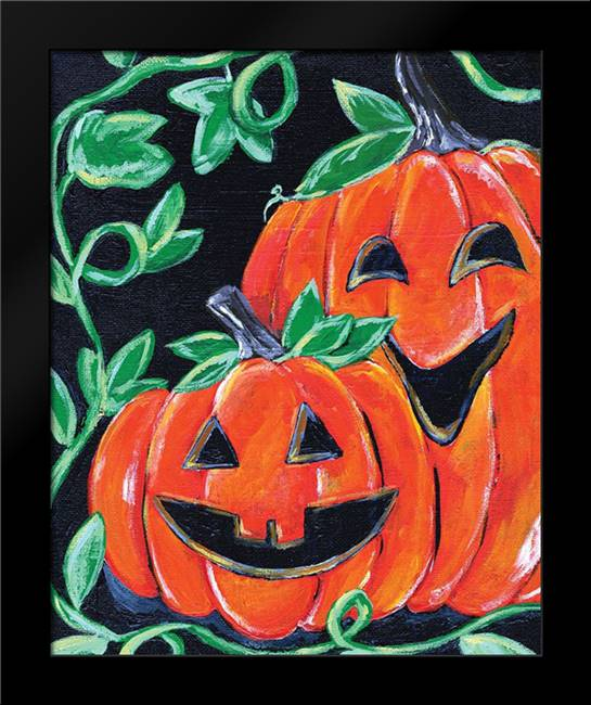 Halloween Pumpkins: Framed Art Print by Seay, Anne