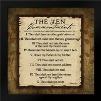 The Ten Commandments: Framed Art Print by Pugh, Jennifer