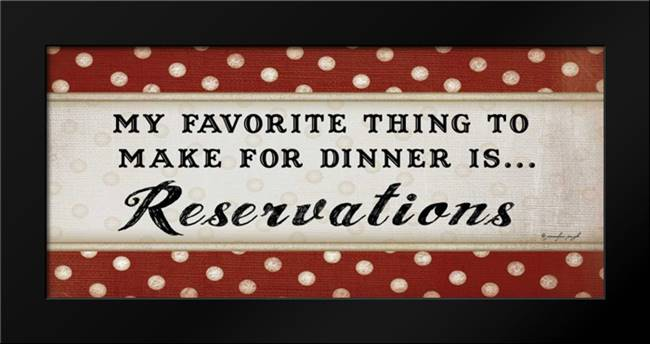 Dinner Reservations: Framed Art Print by Pugh, Jennifer