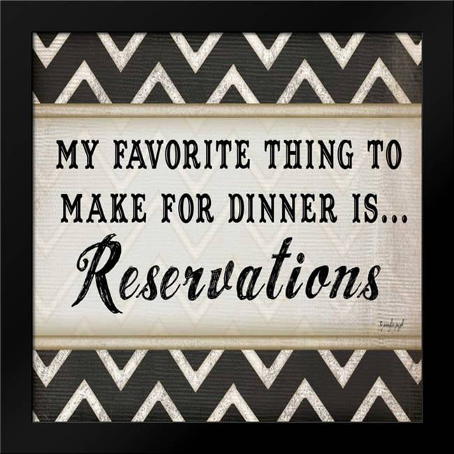 Dinner Reservations Chevron: Framed Art Print by Pugh, Jennifer