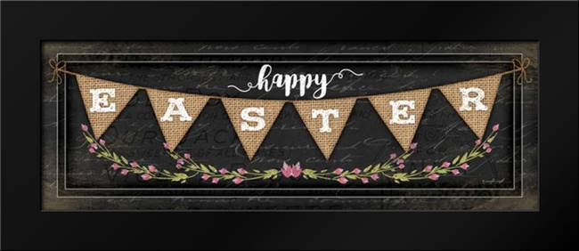 Happy Easter: Framed Art Print by Pugh, Jennifer
