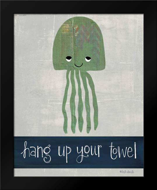 Hang Up Your Towel: Framed Art Print by Doucette, Katie