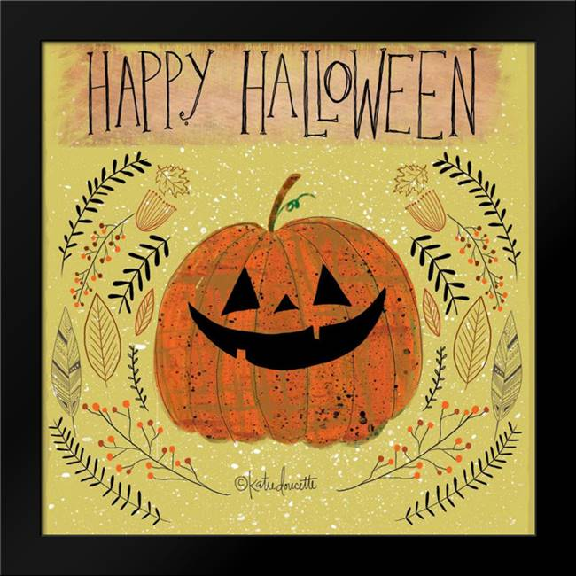 Happy Halloween: Framed Art Print by Doucette, Katie