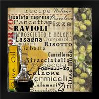 Italian I: Framed Art Print by Wolk, Lisa
