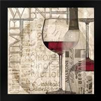 Time for Wine - Red: Framed Art Print by Wolk, Lisa