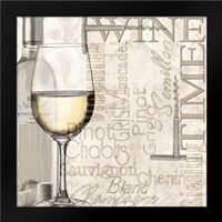 Time for Wine - White: Framed Art Print by Wolk, Lisa