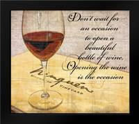 Wine is the Occasion: Framed Art Print by Wolk, Lisa
