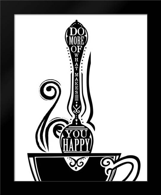 Do More Spoon: Framed Art Print by Longfellow Designs