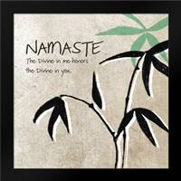 Namaste: Framed Art Print by Woods, Linda