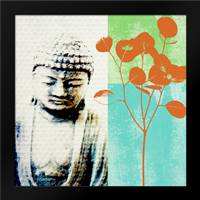 Buddha II: Framed Art Print by Woods, Linda