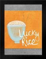 Lucky Rice: Framed Art Print by Woods, Linda