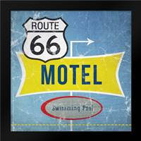 Route 66 Motel: Framed Art Print by Woods, Linda