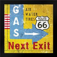 Gas Next Exit: Framed Art Print by Woods, Linda