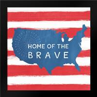 Home of the Brave: Framed Art Print by Woods, Linda