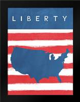 Liberty: Framed Art Print by Woods, Linda
