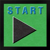 Start: Framed Art Print by Woods, Linda