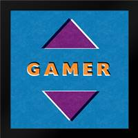 Gamer: Framed Art Print by Woods, Linda