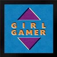 Girl Gamer: Framed Art Print by Woods, Linda