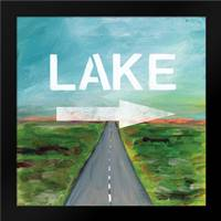 Lake Road: Framed Art Print by Woods, Linda