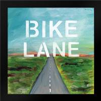 Bike Lane: Framed Art Print by Woods, Linda