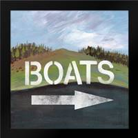 Boats: Framed Art Print by Woods, Linda