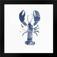 Blue Lobster: Framed Art Print by Woods, Linda