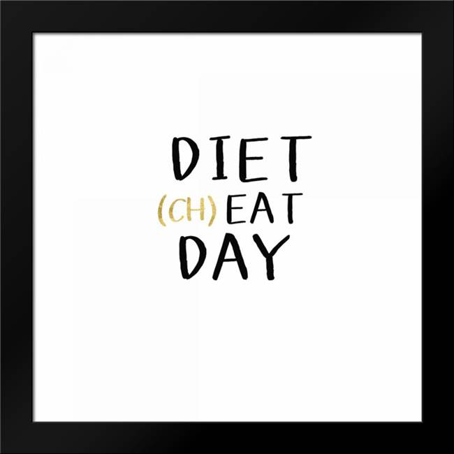 Diet Cheat Day: Framed Art Print by Woods, Linda
