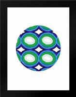 Blue and Green Ball: Framed Art Print by Woods, Linda