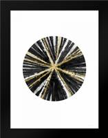 Black, White, and Gold Ball: Framed Art Print by Woods, Linda
