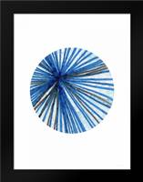 Blue Black Ball: Framed Art Print by Woods, Linda