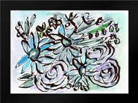 Beach Glass Flowers II: Framed Art Print by Woods, Linda