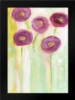 Purple Flowers: Framed Art Print by Woods, Linda