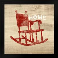 Home Red Chair: Framed Art Print by Woods, Linda