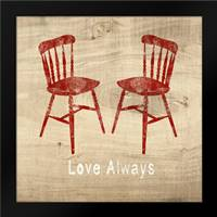 Love Always Chairs: Framed Art Print by Woods, Linda