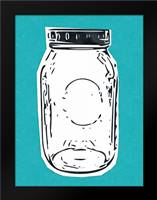 Pop Art Mason Jar - Blue: Framed Art Print by Woods, Linda