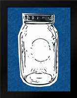 Pop Art Mason Jar - Dark Blue: Framed Art Print by Woods, Linda