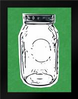 Pop Art Mason Jar - Green: Framed Art Print by Woods, Linda