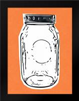 Pop Art Mason Jar - Orange: Framed Art Print by Woods, Linda
