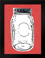 Pop Art Mason Jar - Red: Framed Art Print by Woods, Linda