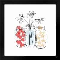 Three Full Jars: Framed Art Print by Woods, Linda