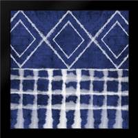 Blue Shibori D: Framed Art Print by Woods, Linda