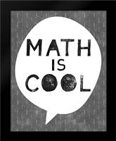 Math is Cool: Framed Art Print by Woods, Linda