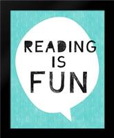 Reading is Fun: Framed Art Print by Woods, Linda